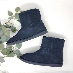 MINNETONKA Leather Navy Boots 10